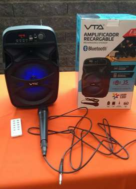 Amplificador recargable nuevo VTA