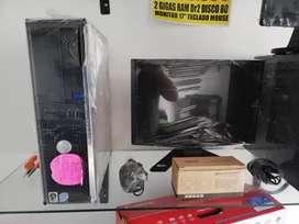Oferta computadores hp intel core 2 duo con monitor 17 garantía