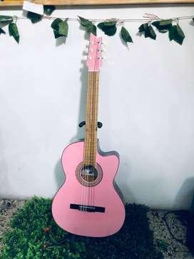 guitarra rosa acustica