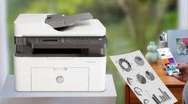 Impresora HP Laser MFP 137fnw Obtenga el rendimiento de una impresora multifuncional productiva a un precio asequible. I