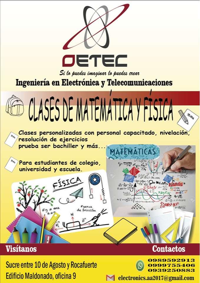 CLASES DE MATEMÁTICAS Y FÍSICA 0