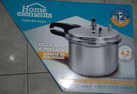 Vendo olla a presión Home Elements Nueva