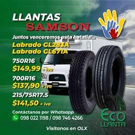 LLANTAS SAMSON 750R16/ 700R16 / 215/75R17.5
