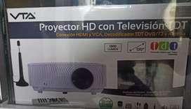 PROYECTOR HD CON SEÑAL TDT