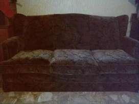 Sillón de pana de 3 cuerpos de 1.78 mts x 0.90 cm más 2 sillones de pana individuales 0.72 cm x 0.90 cm
