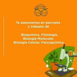 Asesoramos trabajos de bioquimica, fisiologia, biologia molecular, biologia celular, fisicoquimica