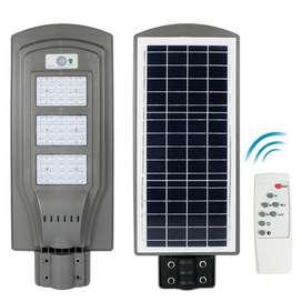 LAMPARA SOLAR LED ALUMBRADO PUBLICO  60W con sensor de movimiento