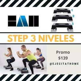 Step aeróbico tres niveles