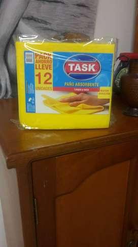 paños absorbentes para cocina paquete por 12 unidades