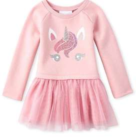 Hermoso vestido unicornio Talla 4 de The childrens place
