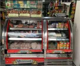 Venta Refrigerador con doble panorámica, Congelador con vitrina,