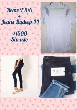 Jeans Bydeep T 44/46 Nuevo Sin uso $1000
