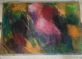 Cuadro (abstracto) acrílico en lienzo