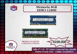 Memoria 8GB DDR3-12800