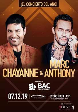 2 tickets a Chayanne y Marc Anthony