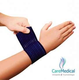 Muñequera Elastica Tipo Venda - 2 U - Ortopedia Care Medical