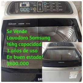 Vendo lavadora Samsung digital de 16 kg