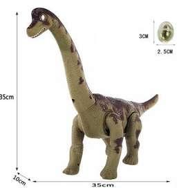 Dinosaurio Brachiosaurus Electrónico Verde Pone Huevos.