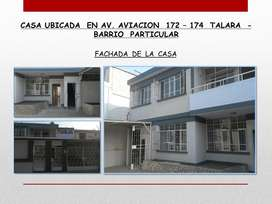 Casa Amplia en Barrio Particular Talara