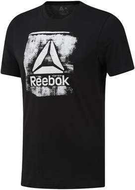 Remera Reebok Hombre Stamped Logo Crew Tee Talle L