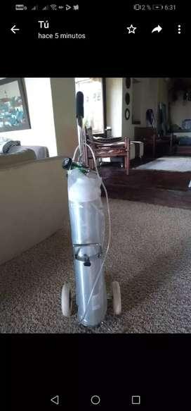 Bala de oxigeno de 3000 PSI con base y ruedas