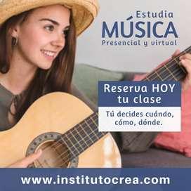 Aprende a cantar o tocar un instrumento musical