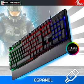 Teclado Gamer Xtech Usb Led Multicolor/español Multimedia