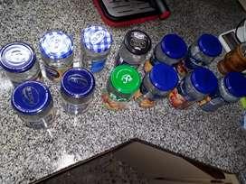 Frascos de vidrio 12 unidades.