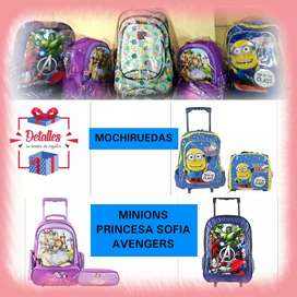 MOCHIRUEDAS MONSTER HIGH MINIONS SIMPSONS PRINCESA SOFIA Y DISNEY