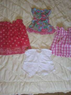 Camisas Marca Minimimo Cheeky 12 meses  150 c/u