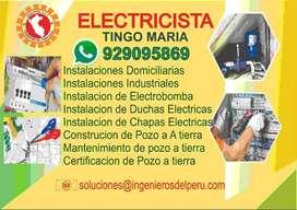 TECNICO ELECTRICISTA,INSTALACIONES DOMICILIARIAS, INSTALACION, CONSTRUCCION DE POZO A TIERRA