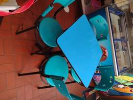 Juego de mesas 60X60 4 colores