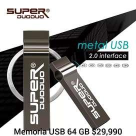 Memoria USB metalizada
