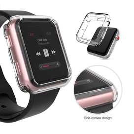 Case Tpu Transparente Para Apple Watch 44 /42 /40 /38mm