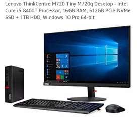 ULTIMAS UNIDADES  4.250.000 Computador escritorio thinkcentre m720q core i5