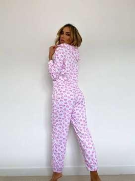 Pijama enterizo dama en algodón