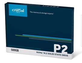 SSD M.2 PCIE NVME P2 500GB CRUCIAL