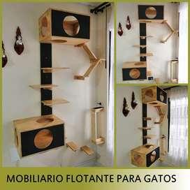 Mobiliario flotante para gatos