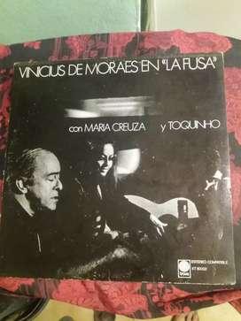 """Vinilo VINICIUS DE MORAES EN """"LA FUSA"""" con maria creuza y toquinho"""