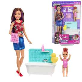 Muñeca Barbie Skipper Niñera Babysitters Baño, Tina Y Accesorios Original