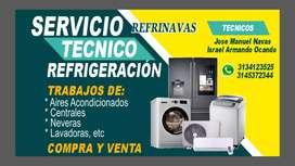 Reparación de neveras y lavadoras.