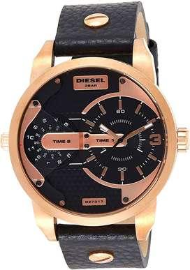 Reloj Diesel Little Daddy Dz7317 Lujo Cuero Negro Cobre
