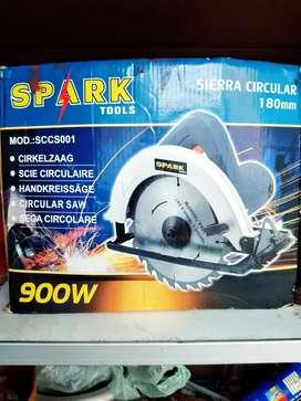 Cierra circular 180mm marca spark tools