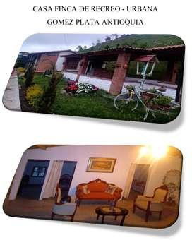 Hermosa Casa Finca de recreo dentro del casco urbano de Gómez Plata Antioquia