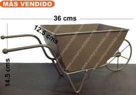 Soporte Matera Bicicleta Metal Maceta Regalo Hombre Mujer