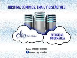 Hosting, Dominios, Email y Diseño web