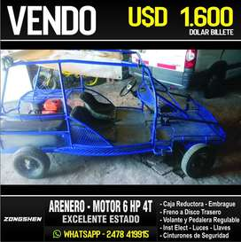 ARENERO MOTOR 4T 6HP - PARA 4 PERSONAS