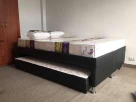Base cama tipo nido medida Doble 1.40*1.90 con colchon cama auxiliar y Envio