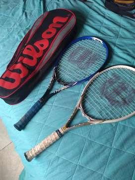 Vendo raquetas y estuche wilson