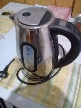 Pava electrica acero inoxidable + cafetera eléctrica